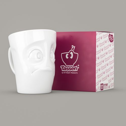 White Porcelain 'Baffled' Mug