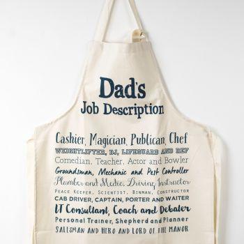 Cook's Apron - Dad's Job Description Poem