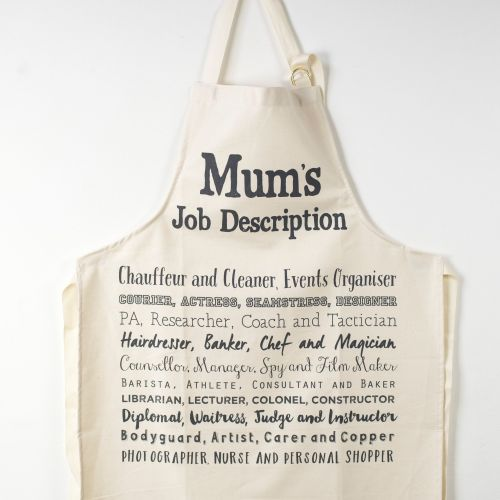 Cook's Apron - Mum's Job Description Poem