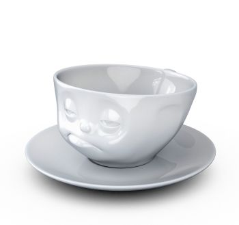 Coffee Cup - White Porcelain 'Snoozy' by Tassen