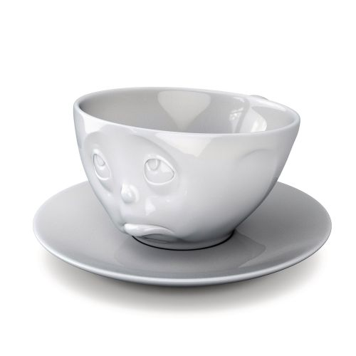 Coffee Cup - White Porcelain 'Oh Please' by Tassen