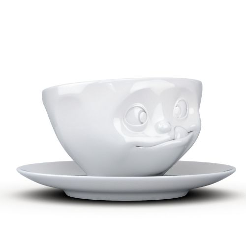 Coffee Cup - White Porcelain 'Tasty' by Tassen