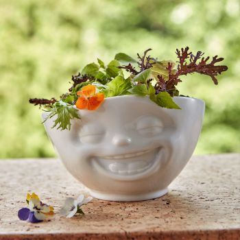 White Porcelain 'Laughing' Bowl by Tassen