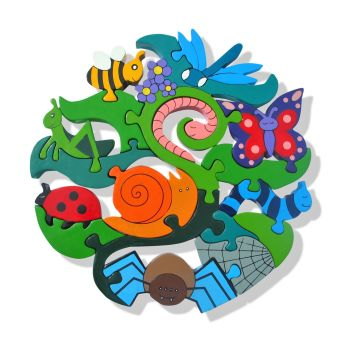 Creepy Crawlies Wooden Jigsaw