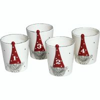 Santa Hugo Cup/Candle Holders