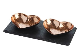 Heart Copper Serving Set