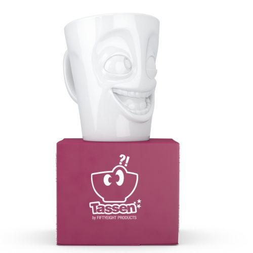 White Porcelain Mug - the 'Joker'