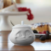 White Porcelain Sugar Bowl