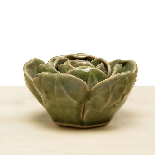 Ceramic Flower Green