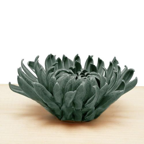Ceramic Chrysanthemum Teal