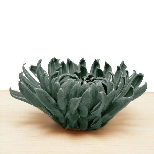 Ceramic Chrysanthemum Teal