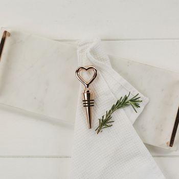 copper heart bottle stopper 2