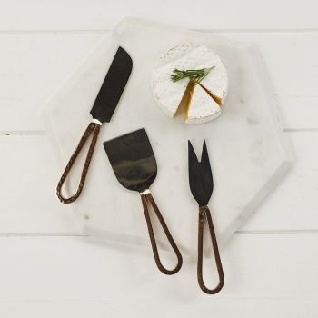 3 Copper Cheese Knives