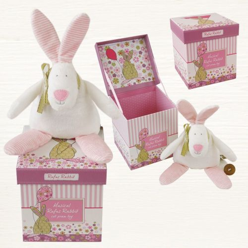 Baby Girl  'Rufus' Rabbit Cot pram toy