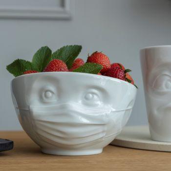 White Porcelain 'Hopeful' Bowl by Tassen