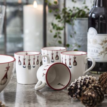 Set of 2 Santa Mugs