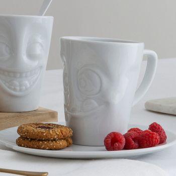 White Porcelain 'Tasty' Mug