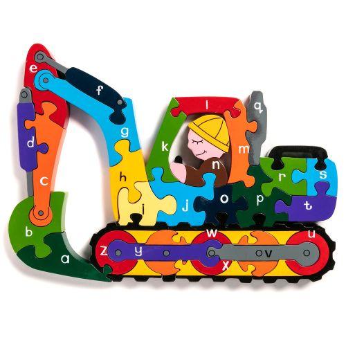Wooden Jigsaw - Alphabet Digger