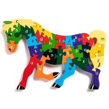Wooden Jigsaw - Alphabet Horse