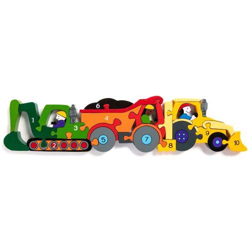 Wooden Jigsaw - Number Construction Set