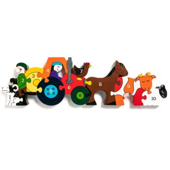 Wooden Jigsaw - Number Farmyard