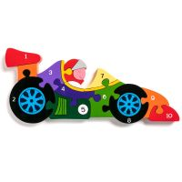 Wooden Jigsaw - Number Racing Car