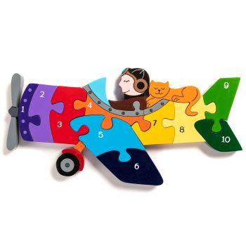 Wooden Jigsaw - Plane
