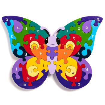 Wooden Jigsaw - Alphabet Butterfly