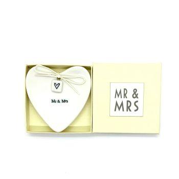 Porcelain Ring Dish Mr & Mrs