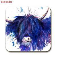 Splatter Highland Cow Coaster