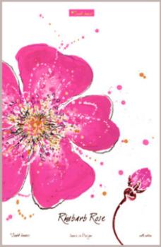 Rhubarb Rose Tea Towel