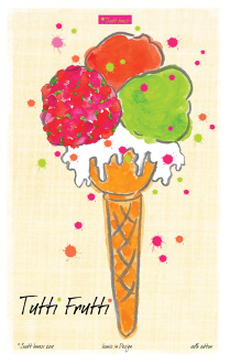 Scott Inness - Tutti Frutti Tea Towel