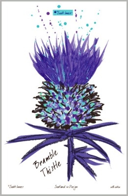 Scott Innes - Bramble Thistle Tea Towel