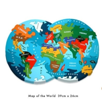 Map of the World Wooden Jigsaw
