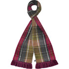 Tweed Scarf in Plum