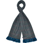 Tweed Scarf in Blue