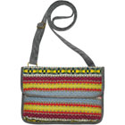 Grey Fair Isle Messenger Bag