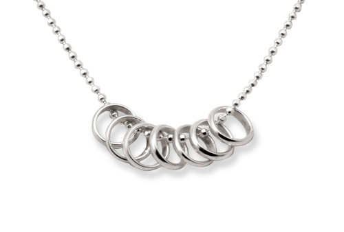 Tales from the Earth - Silver Luck Seven Rings Necklace