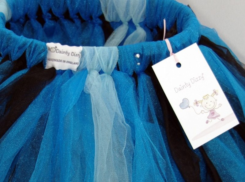 lovely lane dainty dizzy tutu midnight blue close up