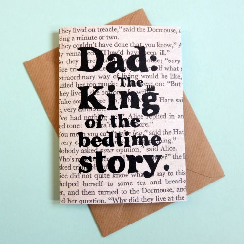 Fathers Day Card - Dad: The King of the Bedtime Story