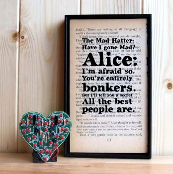 Alice in Wonderland 'we're all mad here'