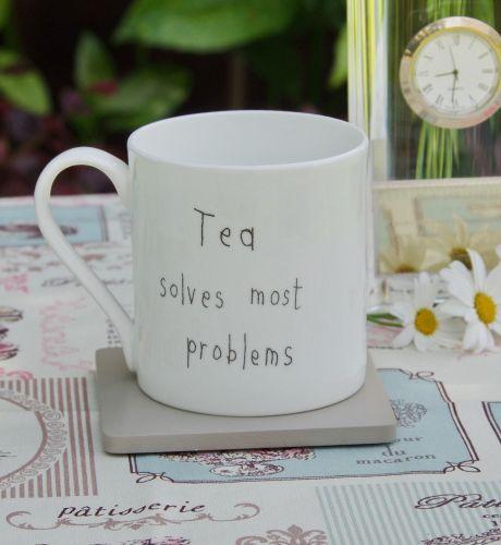 Tea Solves Most problems - Fine Bone China Mug