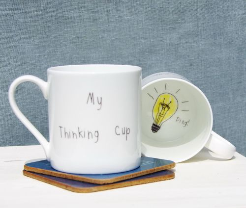 'My Thinking Cup' - Fine Bone China Mug