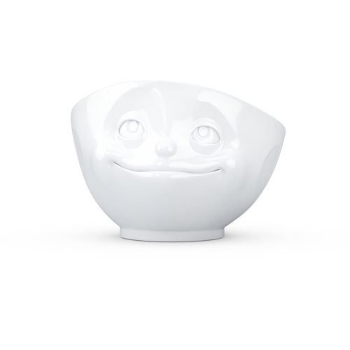 White Porcelain 'Crazy in Love' Bowl by Tassen