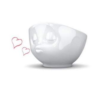 White Porcelain 'Kissing' Bowl by Tassen