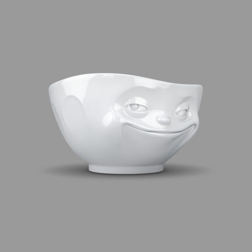 White Porcelain 'Grinning' Bowl by Tassen