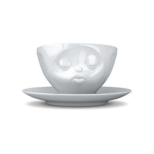 Coffee Cup - White Porcelain 'Kissing' by Tassen