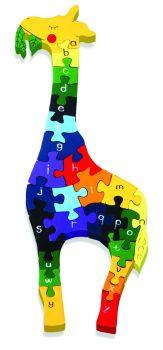 Wooden Jigsaw - Alphabet Giraffe