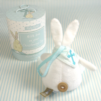 Baby Boy Christening 'Rufus' Rabbit