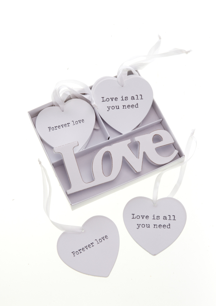 Grey Slate Love Heart